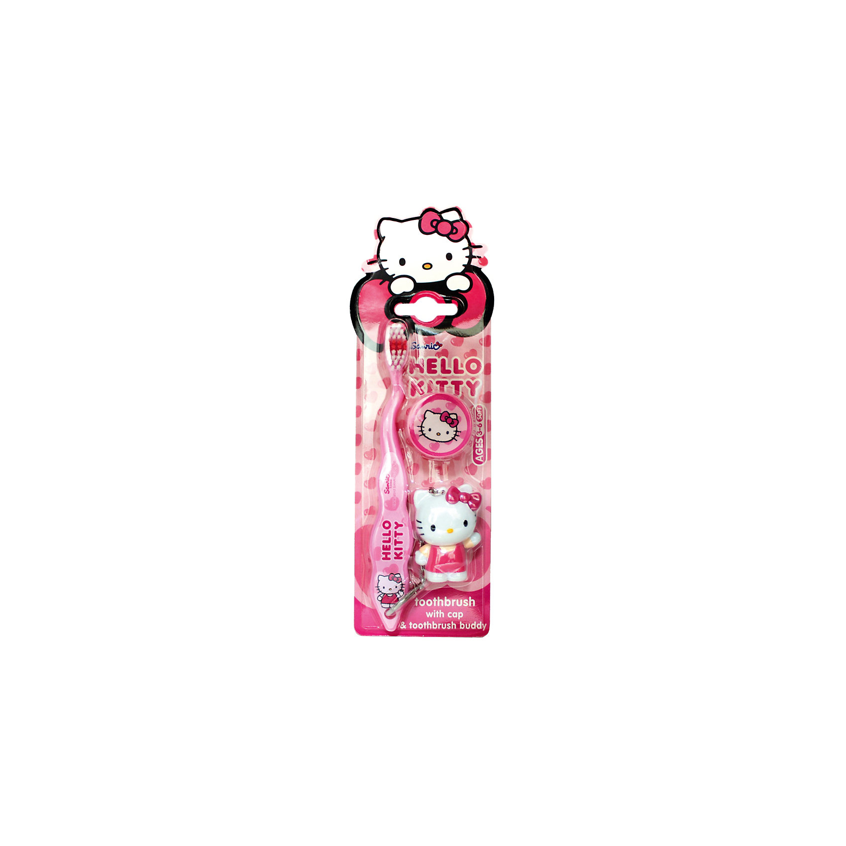 Зубная щетка Hello Kitty 3D, дорожная с брелоком, Firefly