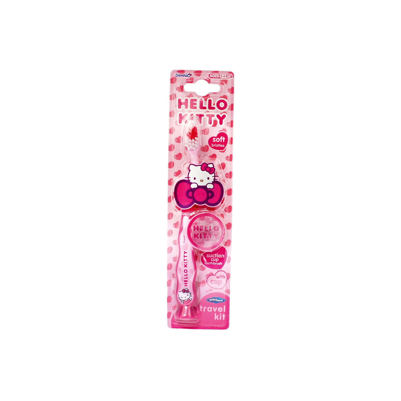 Зубная щетка Hello Kitty с защитным чехлом на присоске, Firefly