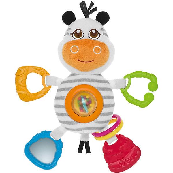 CHICCO Мягкая игрушка-погремушка Зебра, Chicco