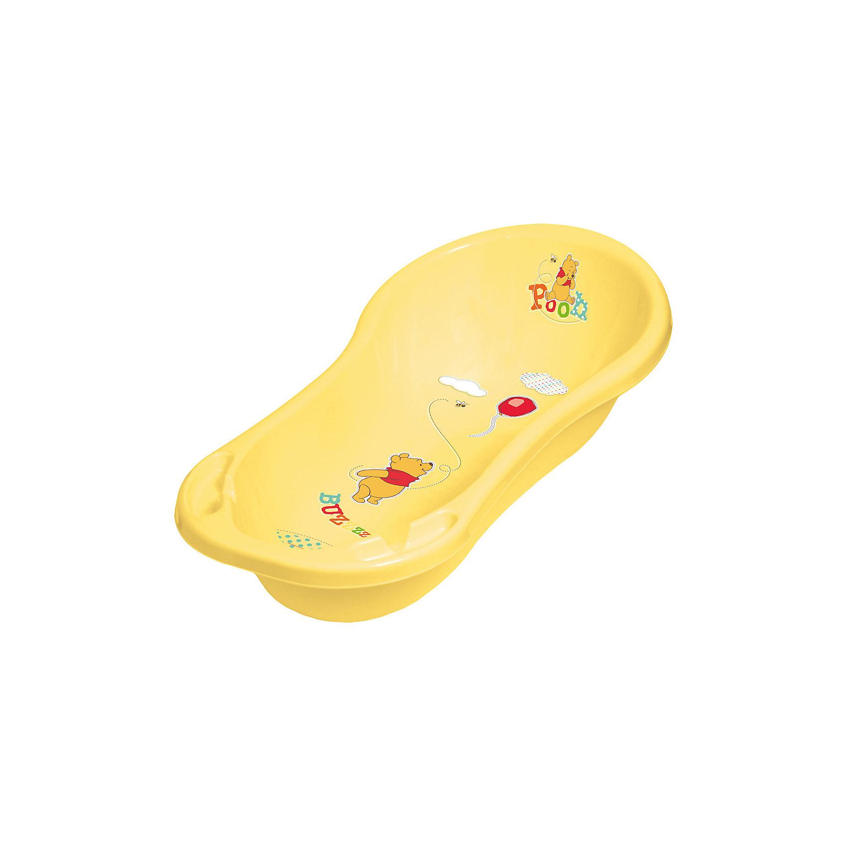 Ванна со сливом 100 см., DISNEY Винни Пух, желтый (OKT kids)