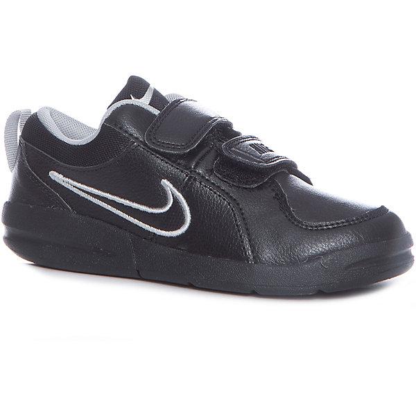 Кроссовки Nike Pico 4 (PSV) для мальчикаКроссовки<br>Характеристики товара:<br><br>• цвет: черный<br>• спортивный стиль<br>• внешний материал обуви: искусственная кожа, кожа<br>• внутренний материал: текстиль<br>• стелька: текстиль<br>• подошва: резина<br>• декорированы логотипом<br>• вставка в подошве для мягкой амортизации<br>• тип застежки: липучка<br>• сезон: весна, лето<br>• температурный режим: от +10°С до +20°С<br>• устойчивая подошва<br>• защищенный мыс и пятка<br>• износостойкий материал<br>• коллекция: весна-лето 2017<br>• страна бренда: США<br>• страна изготовитель: Индонезия<br><br>Продукция бренда NIKE известна высоким качеством, уникальным узнаваемым дизайном и проработанными деталями, которые создают удобство при занятиях спортом и долгой ходьбе. Натуральная кожа в качестве внутреннего материала помогает этой модели обеспечить ребенку комфорт и предотвратить натирание.<br><br>Уход за такой обувью прост, она легко чистится и быстро сушится. Надевается элементарно благодаря удобной липучке.<br><br>Обувь качественно проработана, она долго служит, удобно сидит, отлично защищает детскую ногу от повреждений. Стильно выглядит и хорошо смотрится с одеждой разных цветов и стилей.<br><br>Кроссовки NIKE (Найк) можно купить в нашем интернет-магазине.<br>Ширина мм: 250; Глубина мм: 150; Высота мм: 150; Вес г: 250; Цвет: черный; Возраст от месяцев: 48; Возраст до месяцев: 60; Пол: Мужской; Возраст: Детский; Размер: 28.5,31,33.5,31.5,28,26,27,30,34,34,27.5,29,31,28.5,32; SKU: 3969327;