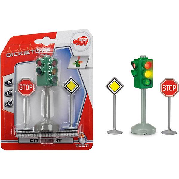Dickie Toys Светофор с набором знаков дорожного движения Dickie Toys