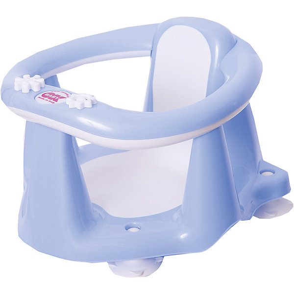 OK Baby Сиденье в ванну Flipper Evolution, OK Baby, светло-голубой горки и сидения для ванн ok baby горка в ванну buddy