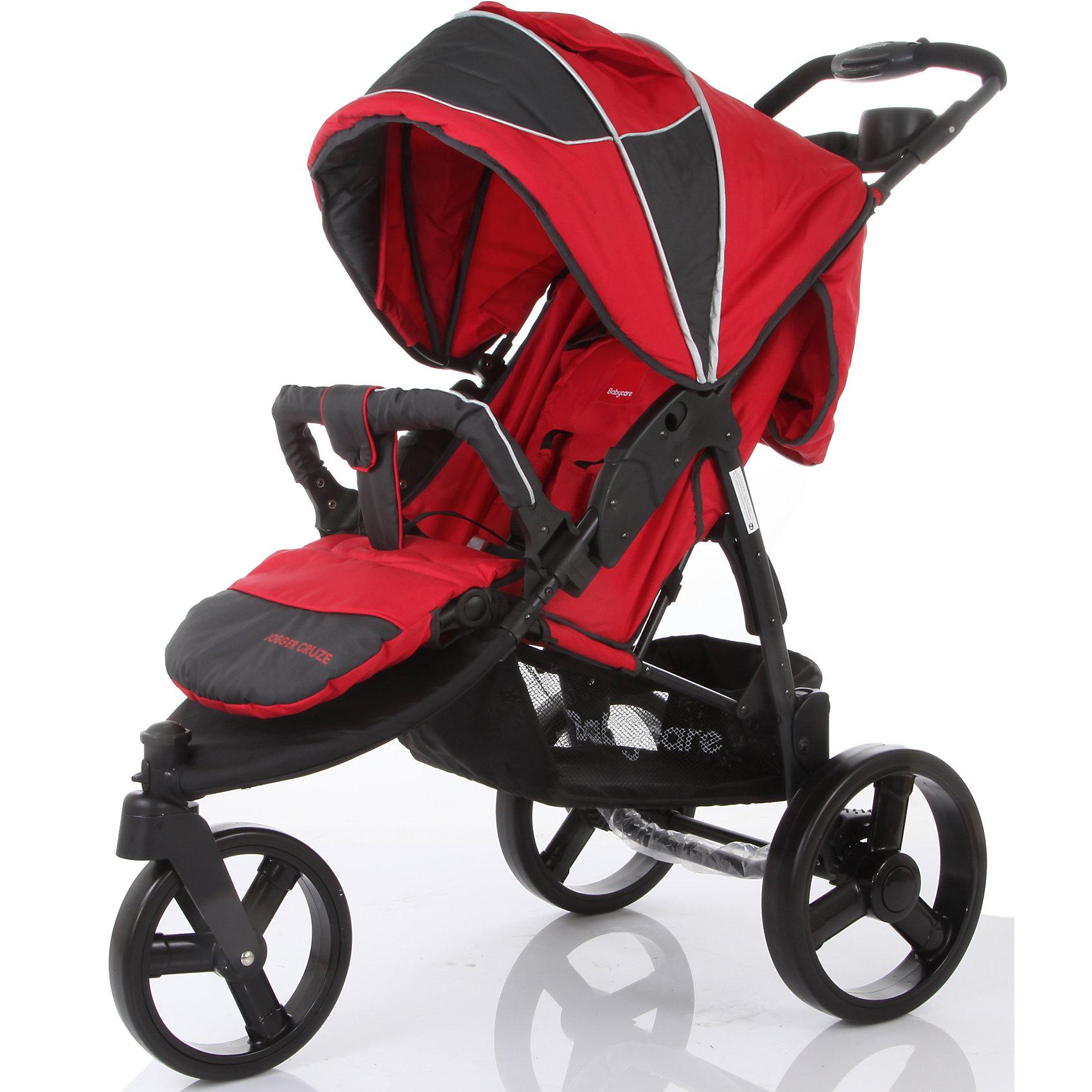Прогулочная коляска Jogger Cruze, Baby Care, красный