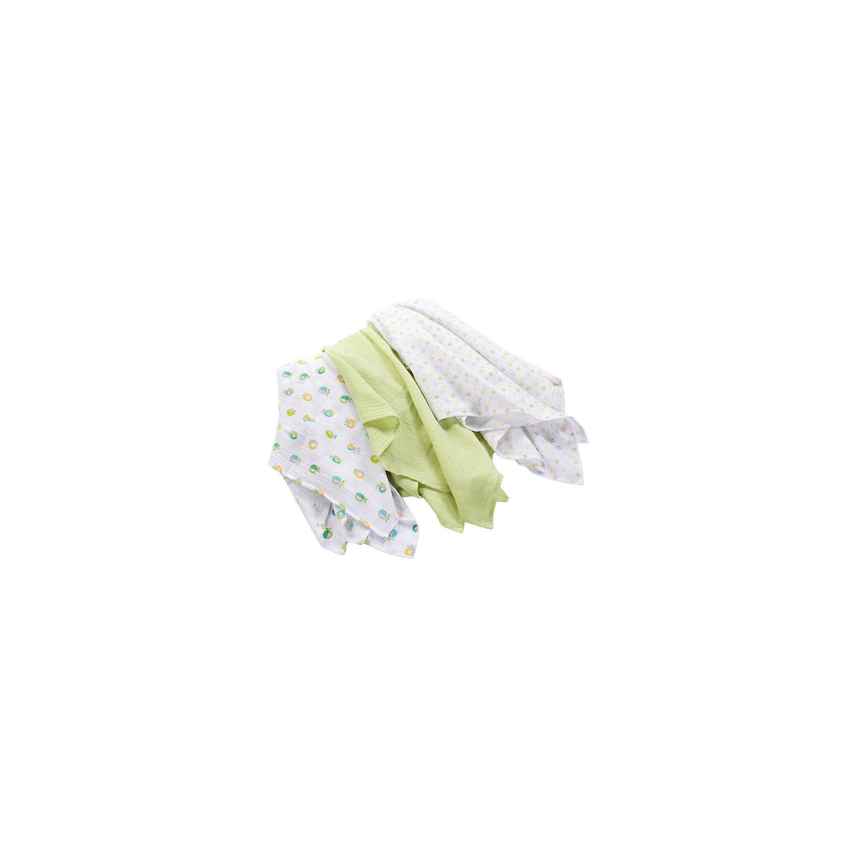 Набор пеленок с рисунком, Summer Infant, 3 штуки