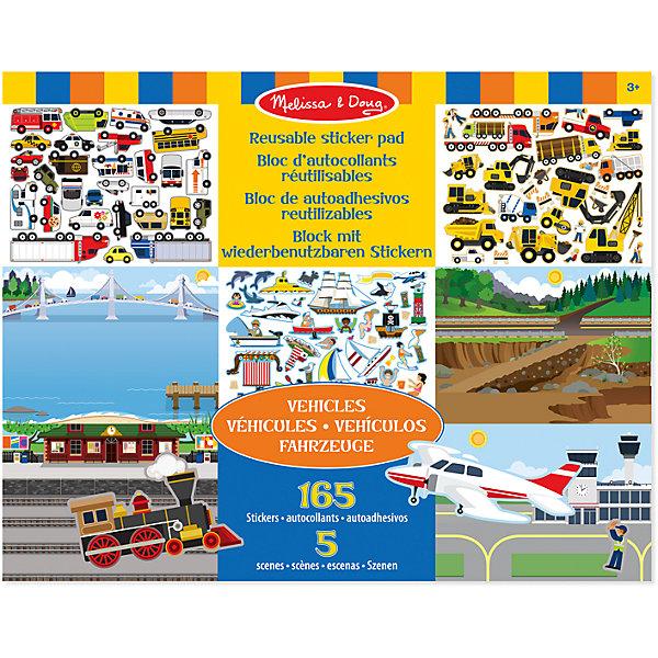 Набор со стикерами и фоном Транспорт, Melissa &amp; DougОзнакомление с окружающим миром<br>Набор со стикерами и фоном Транспорт, Melissa &amp; Doug (Мелисса и Даг) содержит 5 глянцевых фонов различной местности, а также более 165 стикеров, с помощью которых Ваш ребенок придумает занимательные сюжеты на тему аэропорт, морской порт,  ж/д вокзал, строительная площадка, дорога. На картинках-фонах достаточно места, чтобы разместить разнообразный транспорт. Картинки-фоны отделяются друг от друга, а яркие стикеры легко отклеиваются снова и снова – «транспорт» можно перемещать из сюжета в сюжет! Занятие с творческим набором  стикеров и фоном «Транспорт» способствует развитию мелкой моторики, фантазии, творческого мышления, художественных навыков и эстетического вкуса.<br><br>Комплектация: 5 фонов, более 165 стикеров транспорта<br><br>Дополнительная информация:<br>-Размер альбома: 35,5х28 см<br>-Вес: 0,6 кг<br>-Материал: бумага, картон<br><br>С помощью красочного набора изображений фона и многоразовых наклеек на тему «Транспорт» можно создать удивительный пейзаж и придумать множество увлекательных игр. <br><br>Набор со стикерами и фоном Транспорт, Melissa &amp; Doug (Мелисса и Даг) можно купить в нашем магазине.<br>Ширина мм: 360; Глубина мм: 360; Высота мм: 280; Вес г: 560; Возраст от месяцев: 36; Возраст до месяцев: 180; Пол: Унисекс; Возраст: Детский; SKU: 4008277;