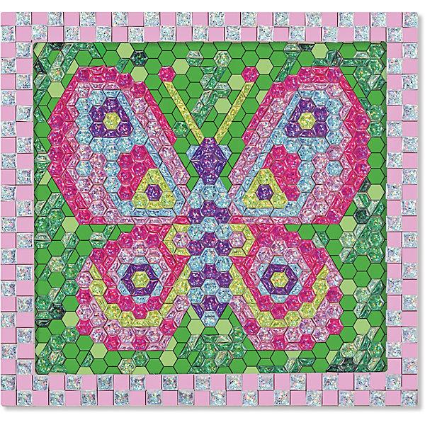 Мозаика Бабочка, Melissa &amp; DougКартины пайетками<br>При помощи 600 сверкающих объемных стикеров из набора Мозаика Бабочка, Melissa &amp; Doug (Мелисса и Даг) ребенок создаст разноцветное изображение бабочки в деревянной раме. Самоклеящиеся элементы следует выкладывать в строгом соответствии с цифрами на основе-рамке (стикеры также пронумерованы). Готовая картинка станет украшением детской комнаты или самодельным подарком близким. Набор развивает мелкую моторику, логическое мышление, творческие способности, усидчивость.<br><br>Дополнительная информация:<br>-Материал: дерево, пластик<br>-Размер упаковки: 27х30х2 см<br>-Вес: 0,5 кг<br><br>Творческий набор Мозаика «Бабочка» станет отличным подарком для Вашего ребенка и обеспечит ему полезное и увлекательное времяпрепровождение.<br><br>Мозаика Бабочка, Melissa &amp; Doug (Мелисса и Даг) можно купить в нашем магазине.<br>Ширина мм: 310; Глубина мм: 310; Высота мм: 270; Вес г: 620; Возраст от месяцев: 72; Возраст до месяцев: 180; Пол: Женский; Возраст: Детский; SKU: 4008279;