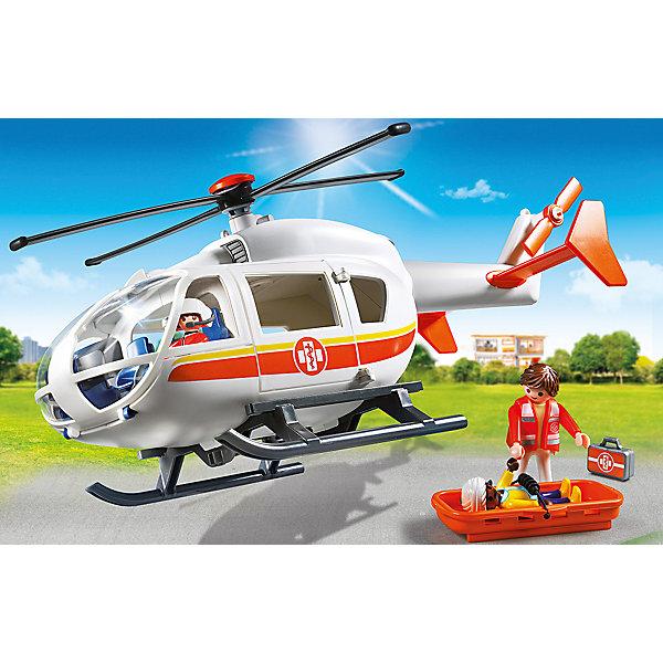 PLAYMOBIL® Детская клиника: Вертолет скорой помощи, PLAYMOBIL playmobil® дуо молодожены playmobil