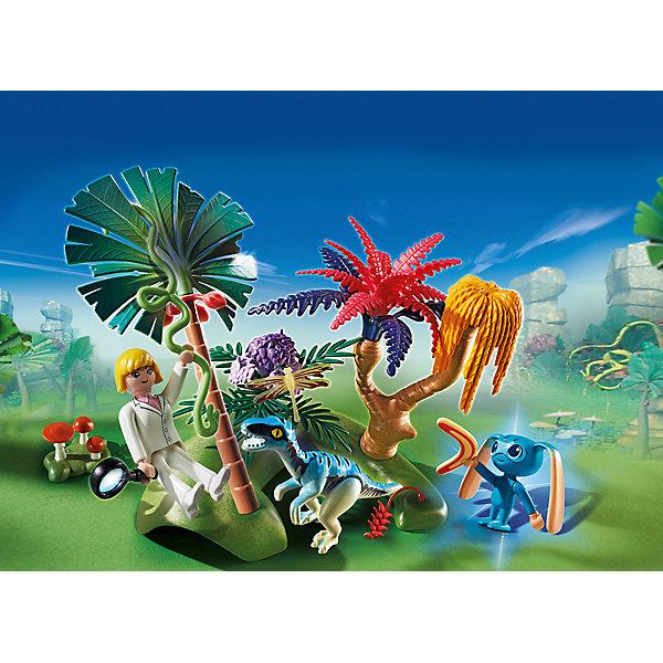 PLAYMOBIL® Конструктор Playmobil Супер 4 Затерянный остров с Алиен и Хищником конструкторы playmobil носорог с носорожком