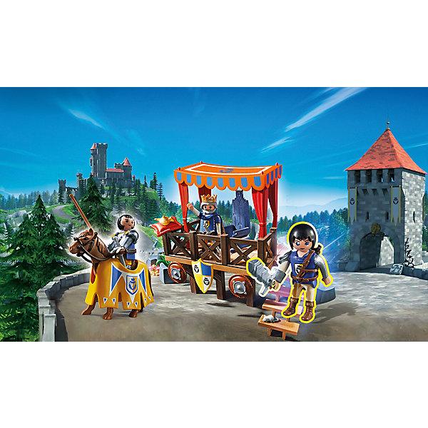 PLAYMOBIL® Конструктор Playmobil Супер 4 Королевская Трибуна с Алексом конструкторы playmobil страусы с гнездом