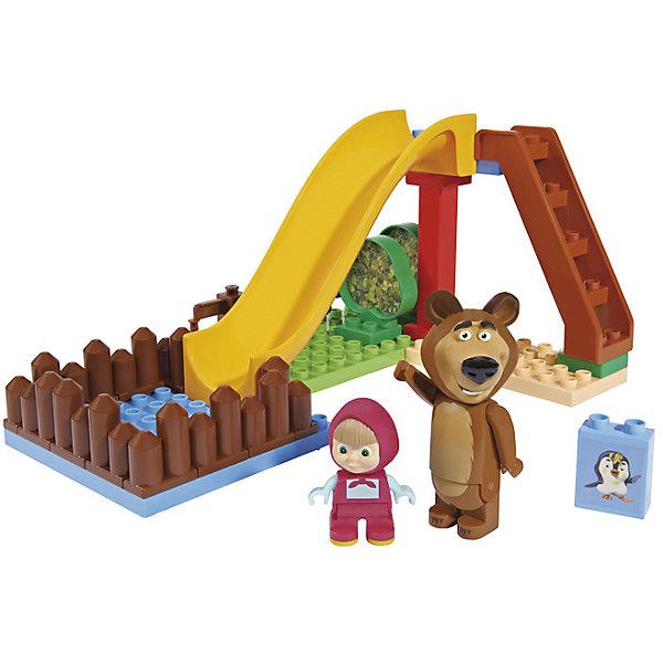 BIG Конструктор Маша и Медведь, Бассейн, 29 деталей, BIG big конструктор маша и медведь бассейн