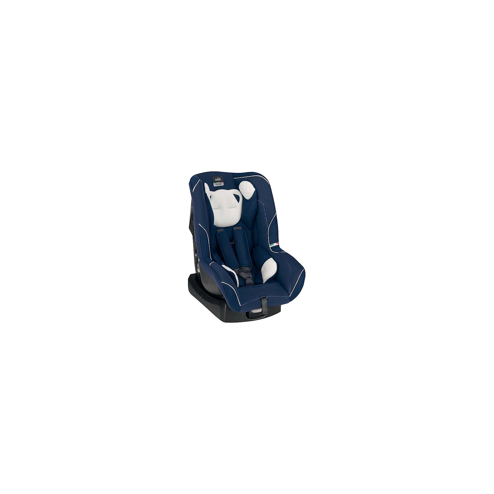 Автокресло CAM с подголовником Auto Gara, 0-18 кг, синий/серый