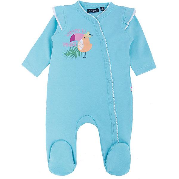 Купить Комбинезон для мальчика BLUE SEVEN, Бангладеш, голубой, 68, 62, 56, Мужской