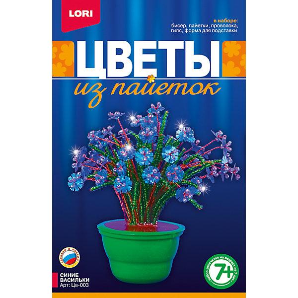 """Фотография товара цветы из пайеток """"Синие васильки"""", LORI (4031957)"""