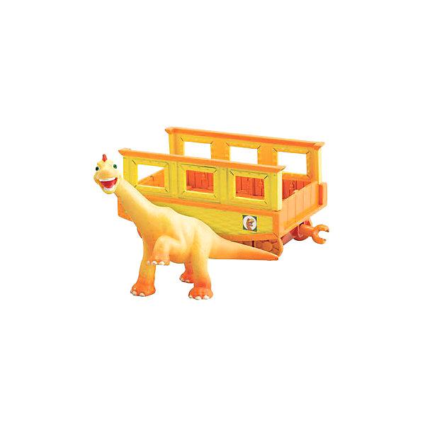 TOMY Игровой набор Нэд с вагончиком, Поезд Динозавров, TOMY играем вместе набор для лепки сделай фигурку тэнка поезд динозавров