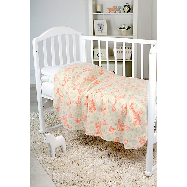 Baby Nice Плед-флисовый 2-х стор., Baby Nice, бежевый