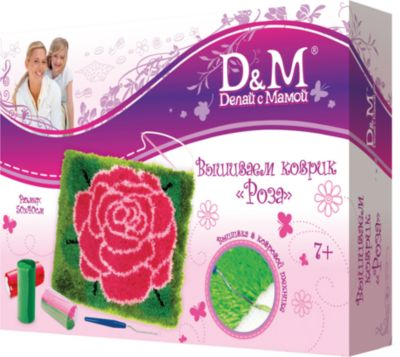 Набор для вышивания коврика  Роза  (50х40см), Делай с Мамой, артикул:4035204 - Рукоделие и поделки