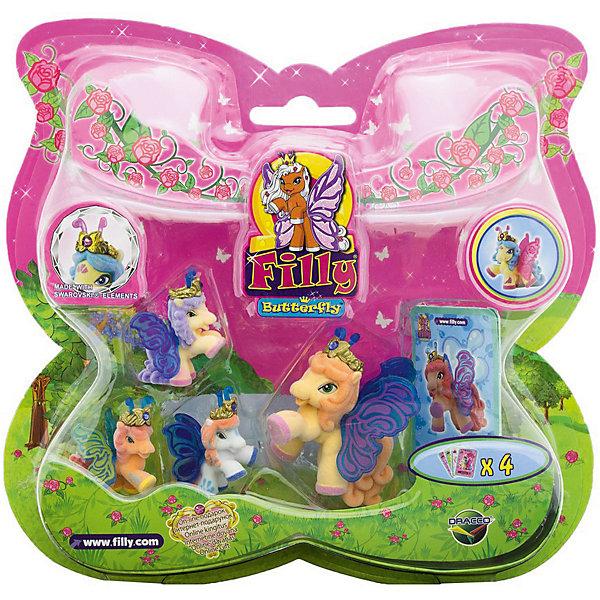 """Игровой набор Волшебная семья Splash, FillyКоллекционные и игровые фигурки<br>Большой игровой набор """"Волшебная семья"""" посвящен новым персонажам из мира лошадок Филли. Девочки придут в восторг от сразу четырех милых лошадок в одном наборе! Голову пони венчает мягкая корона, украшенная кристаллами Swarovski, за спиной у них - невероятные резные крылья с уникальным дизайном и изображением герба своего семейства. Яркие краски нанесены на крылышки тампонной печатью, поэтому, устойчивы к различному внешнему воздействию. Собери всех прекрасных лошадок и придумывай свои волшебные истории!<br><br>Дополнительная информация:<br><br>- Материал: пластик, флок.<br>- Размер лошадок: большая - 6 см (1 шт), маленькая: 3,5 см (3 шт).<br>- Комплектация: 4 лошадки, 4 карточки.<br><br>Игровой набор Волшебная семья Splash, Filly (Филли) можно купить в нашем магазине.<br>Ширина мм: 35; Глубина мм: 215; Высота мм: 205; Вес г: 127; Возраст от месяцев: 36; Возраст до месяцев: 84; Пол: Женский; Возраст: Детский; SKU: 4043640;"""