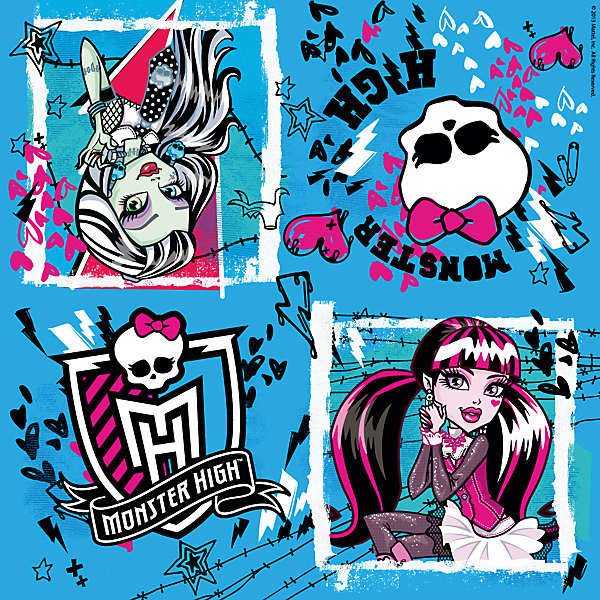 Росмэн Салфетки Monster High 33*33 см (20 шт)