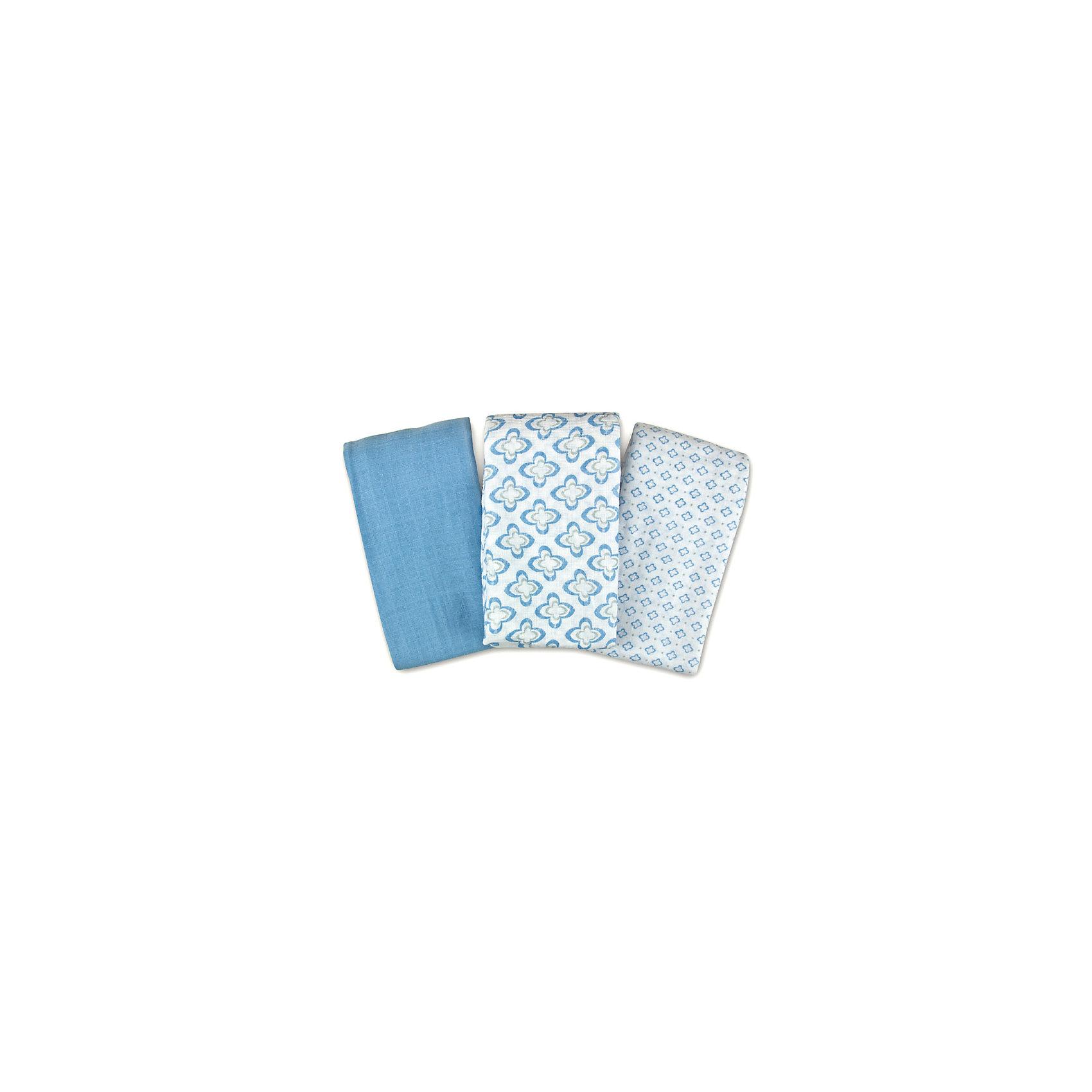 Набор пеленок  Summer Infant,  3 шт, синий с орнаментом