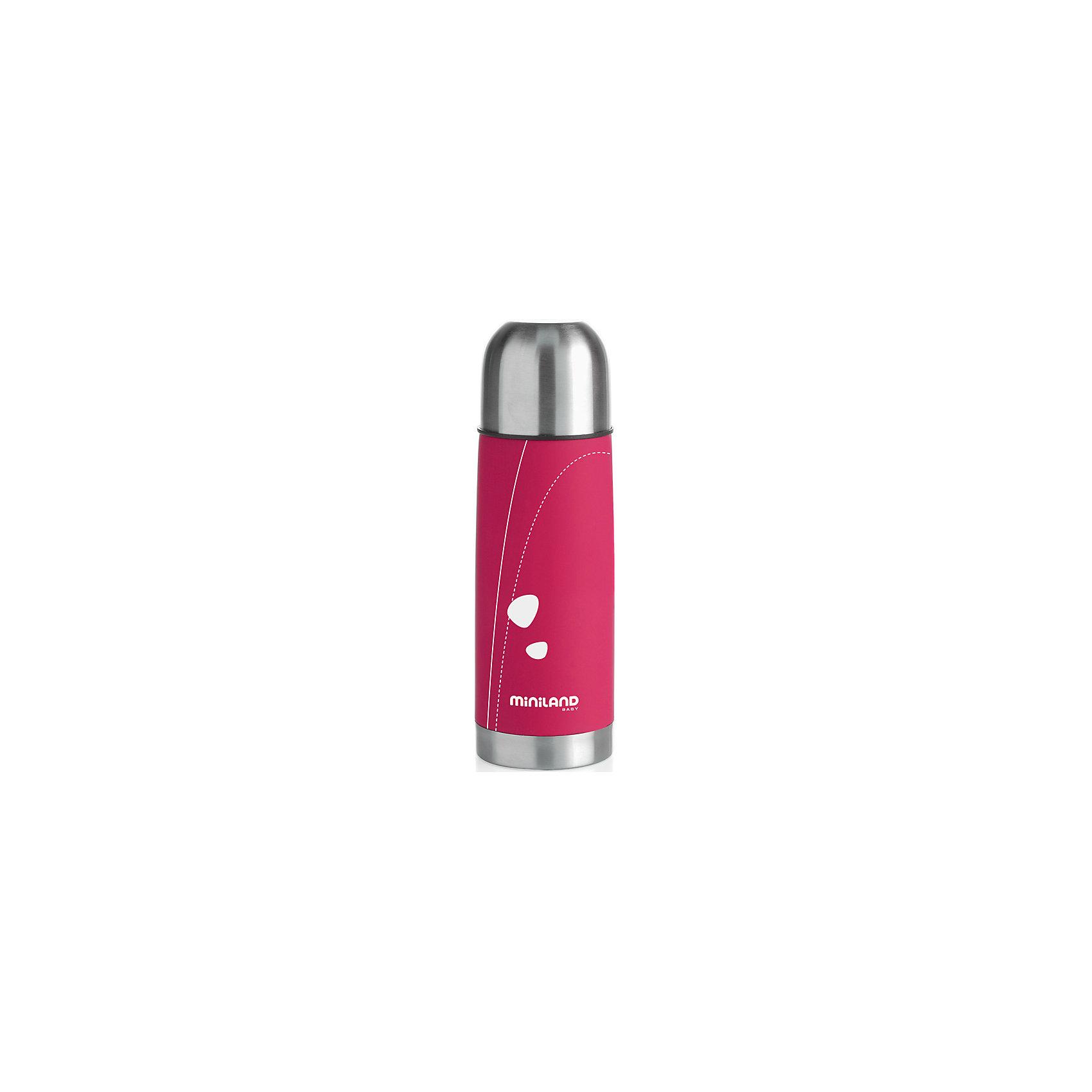 Термос для жидкостей Miniland SOFT THERMO 350 мл, розовый