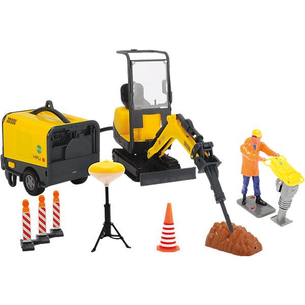 Dickie Toys Набор строительной техники Dickie Toys Wacker Neuson, свет игрушка dickie toys набор машинок 3745000