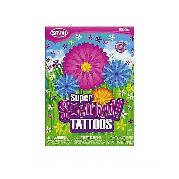 Набор татуировок для девочек с запахом цветов, 50 шт., SavviПереводные тату<br>Ароматизированные татуировки – такого еще не было! Великолепное сочетание крутой картинки и необычного запаха сделает ваш образ необыкновенным. <br>«Цветочные» татуировки по достоинству оценят девочки, на которых будут красоваться всевозможные ромашки, маргаритки, лютики, листочки и бабочки, - и все это яркое и удивительно разноцветное. <br>Аксессуары выпущены американским брендом Savvi – лидеру на рынке временных татуировок в США (доля рынка – 90%). При их изготовлении использованы только сертифицированные, нетоксичные материалы, не содержащие свинца и абсолютно безопасные для здоровья. <br>Выберите картинку, которая соответствует вашему настроению, намочите, расположите на коже и аккуратно снимите защитную ленту. Вы будете поражены, насколько реалистично выглядит изображение! Татуировки легко наносятся и смываются теплой водой с мылом. Без смывания держатся на коже несколько дней.<br><br>Дополнительная информация:<br><br>В комплекте: 50 татуировок.<br>Размер упаковки: 220 мм х 160 х 5 мм<br><br>Набор татуировок для девочек с запахом цветов, 50 шт., Savvi можно купить в нашем магазине.<br>Ширина мм: 220; Глубина мм: 160; Высота мм: 5; Вес г: 32; Возраст от месяцев: 60; Возраст до месяцев: 144; Пол: Женский; Возраст: Детский; SKU: 4048921;