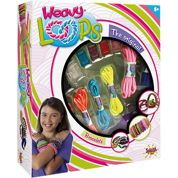 Набор для плетения браслетов, Weavy LoopsНаборы для создания украшений и аксессуаров<br>Набор для плетения браслетов, Weavy Loops - увлекательный набор для творчества, который позволит юной рукодельнице создавать стильные модные украшения для себя и своих друзей. В комплекте Вы найдете все необходимые для изготовления ярких и оригинальных браслетов:<br>цветные шнурки разных цветов, застежки и инструмент для плетения браслетов. Несложная, доступная даже новичкам техника плетения позволят Вам быстро освоить новый вид творчества и порадоваться первым успехам. Комплект оформлен в яркую подарочную коробочку.<br>Развивает творческие и художественные способности, фантазию, усидчивость, мелкую моторику.<br><br> Дополнительная информация:<br><br>- В комплекте: 6 шнуров разных цветов, 6 застежек, 1 инструмент для плетения браслетов.<br>- Материал: пластик, текстиль.<br>- Размер упаковки: 25,9 x 21,9 x 5,1 см. <br>- Вес: 0,22 кг.<br><br>Набор для плетения браслетов, Weavy Loops, можно купить в нашем интернет-магазине.<br>Ширина мм: 266; Глубина мм: 220; Высота мм: 53; Вес г: 218; Возраст от месяцев: 72; Возраст до месяцев: 144; Пол: Женский; Возраст: Детский; SKU: 4050214;