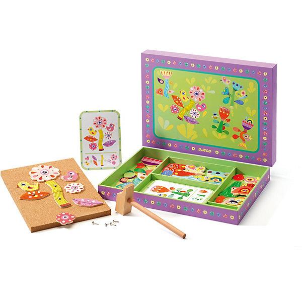 Конструктор Сад, DJECOКонструирование<br>Увлекательный конструктор Сад с яркими цветами станет отличным подарком для каждой девочки. С помощью набора можно самим создавать красивые цветы по инструкции или же придумывать собственные варианты. Игра с конструктором развивает фантазию, пространственное мышление ребенка, внимание, усидчивость и мелкую моторику. Игрушка выполнена из натурального дерева, не имеет острых углов и мелких деталей, раскрашена экологически чистыми красками на водной основе. Безопасна для детей. <br><br>Дополнительная информация:<br><br>- Материал: дерево.<br>- Размер упаковки: 30х22,5х3,5 см.<br>- Комплектация: пробковая доска, 39 деревянных деталей, молоточек, 40 безопасных гвоздиков, 5 карточек с инструкциями.<br><br>Конструктор Сад , DJECO (Джеко), можно купить в нашем магазине.<br>Ширина мм: 300; Глубина мм: 225; Высота мм: 35; Вес г: 450; Возраст от месяцев: 36; Возраст до месяцев: 84; Пол: Унисекс; Возраст: Детский; SKU: 4051894;