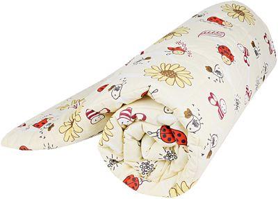 Одеяло стеганное Божья коровка, файбер 200, 105*140, Baby Nice, желтый, артикул:4058265 - Детский текстиль