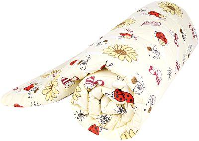 Одеяло стеганное Божья коровка, файбер 300, 105х140 , Baby Nice, желтый, артикул:4058267 - Детский текстиль