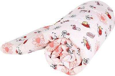Одеяло стеганное Божья коровка, файбер 300, 105х140, Baby Nice, красный, артикул:4058268 - Детский текстиль