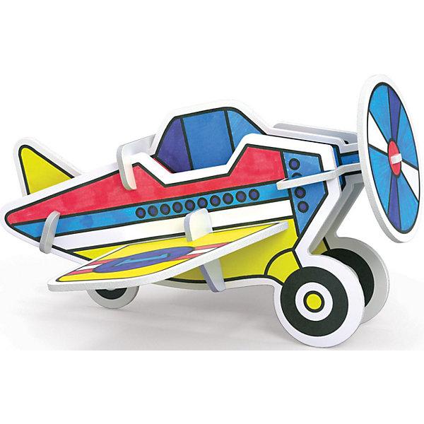 3D Раскраска Самолет, ArtberryМодели из бумаги<br>С помощью набора 3D Раскраска Самолет, Artberry (Артберри) Вашему ребенку предстоит собрать и разукрасить самолет, создав оригинальную самодельную игрушку. Сборка корпуса самолета не потребует клея и ножниц. Творческий процесс развивает усидчивость, моторику пальцев, терпение, трудолюбие и творческие способности.<br><br>Комплектация: 6 разноцветных фломастеров, 2 карты с фигурами для сборки<br><br>Дополнительная информация:<br>-Вес в упаковке: 243 г<br>-Размеры в упаковке: 300х230х25 мм<br>-Материалы: картон, пластмасса, чернила<br><br>Такой творческий набор станет отличным подарком, который доставит настоящую радость детям и откроет новые возможности для развития творческих способностей Вашего ребенка!<br><br>3D Раскраска Самолет, Artberry (Артберри) можно купить в нашем магазине.<br>Ширина мм: 300; Глубина мм: 230; Высота мм: 25; Вес г: 243; Возраст от месяцев: 36; Возраст до месяцев: 144; Пол: Унисекс; Возраст: Детский; SKU: 4058309;