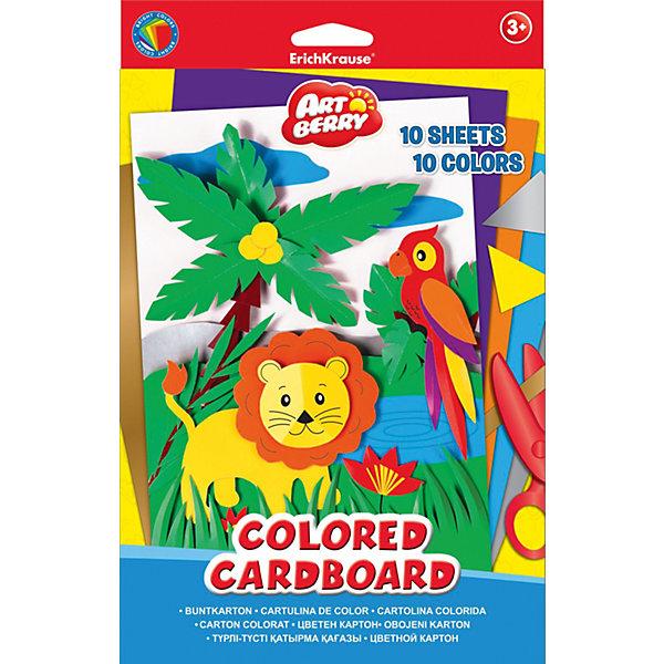 Erich Krause Цветной картон В5 (10 листов), Artberry бумага herlitz 20х28 10 листов 10 цветов для поделок