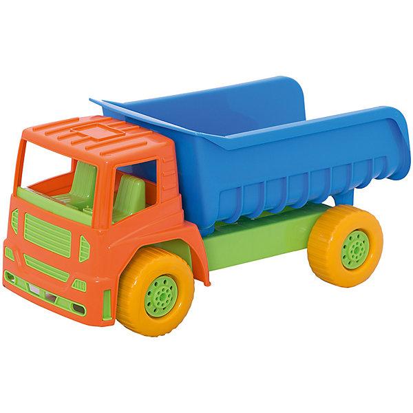 СамосвалОлимпик, НордпластМашинки<br>СамосвалОлимпик, Нордпласт – это пластмассовая машина, которой интересно будет играть вашему мальчику.<br>Яркий самосвал Олимпик от компании Нордпласт отлично подойдет ребенку для различных игр дома, в детском саду или на прогулке. Кузов самосвала поднимается и опускается, колеса крутятся, так что юный строитель сможет прекрасно провести время, подвозя к месту игрушечной стройки необходимые предметы на этом красочном самосвале. Кабина с сидениями открытая, поэтому в ней можно разместить фигурки человечков. Игрушка изготовлена из высококачественной пищевой пластмассы, без трещин и заусениц, поэтому во время эксплуатации выдержит многие детские шалости. Она покрыта нетоксичной краской, не облупливающейся и не выгорающей на солнце. Товар соответствует требованиям стандарта для детских игрушек и имеет сертификат качества.<br><br>Дополнительная информация:<br><br>- Материал: высококачественная пластмасса<br>- Размер: 29х21х49 см.<br>- Вес: 980 гр.<br><br>СамосвалОлимпик, Нордпласт можно купить в нашем интернет-магазине.<br>Ширина мм: 490; Глубина мм: 210; Высота мм: 290; Вес г: 980; Возраст от месяцев: 24; Возраст до месяцев: 60; Пол: Мужской; Возраст: Детский; SKU: 4060312;