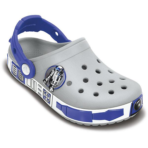 crocs Сабо CB Star Wars R2D2 Clog для мальчика Crocs crocs crocslights butterfly ps clog toddler little kid