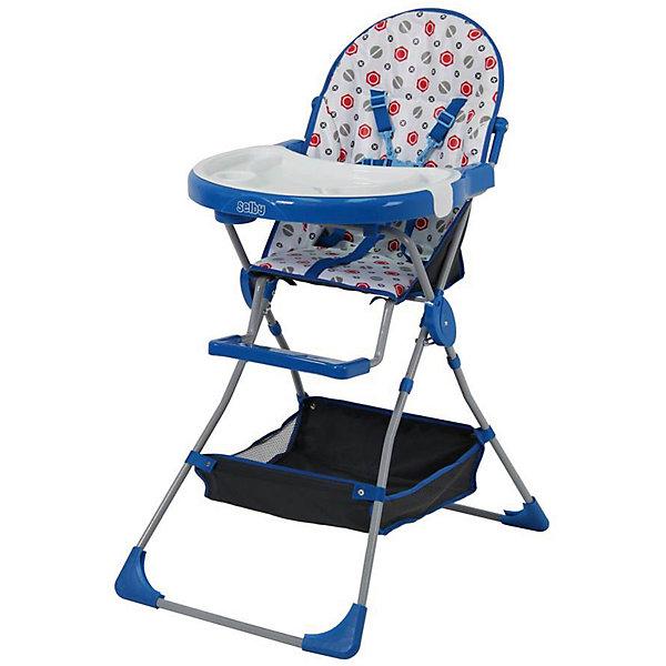 Selby Стульчик для кормления 252 Selby, синий стульчик для кормления сенс м серия babys лакированный арт hedgy hedgy