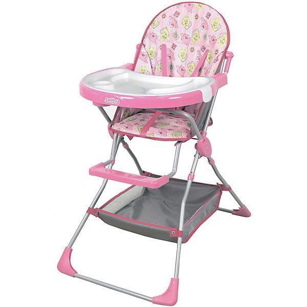Selby Стульчик для кормления 252 Selby, розовый стульчик для кормления selby 252 зеленый 0005602 05