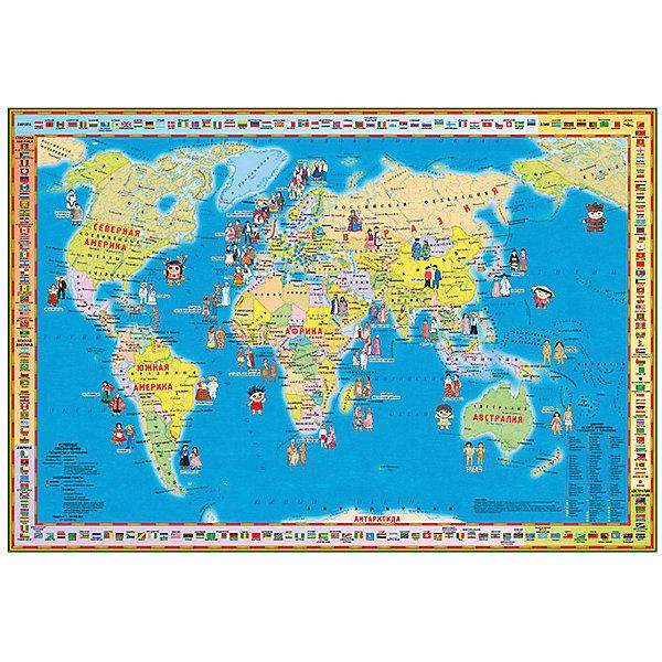 Издательство Ди Эм Би Складная карта Народы и страны