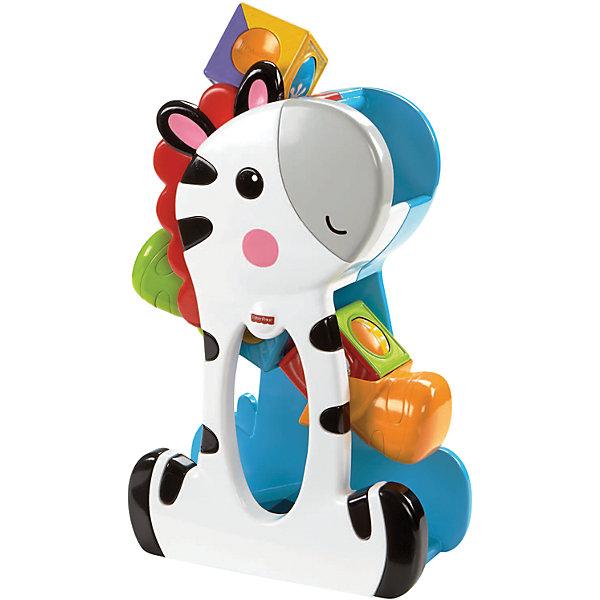 Mattel Развивающая игрушка Fisher-Price Зебра с волшебными кубиками
