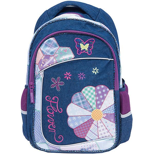 Школьный рюкзак с уплотненной спинкой и светоотражателямиШкольные рюкзаки<br>Рюкзак с уплотненной спинкой и светоотражателями, 44,5х31х18,5 см - этот яркий рюкзак вместит все, что нужно для успешного учебного дня.<br>Удобный рюкзак для повседневного использования выполнен из прочной долговечной ткани. Уплотненная спинка рюкзака не позволит ребенку устать. Широкие, мягкие, регулируемые лямки помогают равномерно распределить нагрузку по всей спине. Светоотражатели сделают Вашего ребенка заметным на дороге в темное время суток. У рюкзака имеется одно вместительное отделение, два боковых кармана и один внешний большой карман, закрывающийся на застежку-молнию. Для переноски рюкзака в руках предусмотрена ручка-петля.<br><br>Дополнительная информация:<br><br>- Материал: полиэстер<br>- Размер: 44,5х31х18,5 см.<br>- Вес: 540 гр.<br><br>Рюкзак с уплотненной спинкой и светоотражателями, 44,5х31х18,5 см можно купить в нашем интернет-магазине.<br>Ширина мм: 185; Глубина мм: 310; Высота мм: 445; Вес г: 540; Возраст от месяцев: 72; Возраст до месяцев: 144; Пол: Женский; Возраст: Детский; SKU: 4098803;