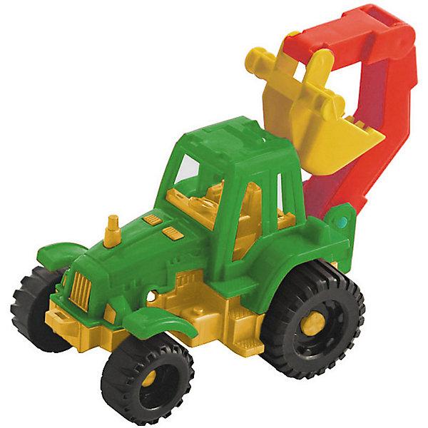 Трактор Ижора с ковшом, НордпластИграем в песочнице<br>Трактор Ижора с ковшом, Нордпласт – это яркая пластмассовая машина, которой интересно будет играть вашему мальчику.<br>Трактор Ижора с ковшом от компании Нордпласт прекрасно подойдет для игр, как в помещении, так и на улице. Ковш трактора двигается, поэтому маленький строитель с легкостью сможет возвести песочные замки, копать траншеи и придумать много интересных и увлекательных игр. В кабине трактора есть сиденье, и в нее можно посадить маленькую фигурку водителя. Две пары рефренных колес обеспечивается отличное сцепление с поверхностью, а значит, трактор может преодолеть даже самые «непроходимые» песочные горки. Яркая расцветка поможет ребенку не потерять машину из виду на прогулке. Игрушка изготовлена из высококачественной пищевой пластмассы, без трещин и заусениц, поэтому во время эксплуатации выдержит многие детские шалости. Она покрыта нетоксичной краской, не облупливающейся и не выгорающей на солнце. Товар соответствует требованиям стандарта для детских игрушек и имеет сертификат качества.<br><br>Дополнительная информация:<br><br>- Материал: высококачественная пластмасса<br>- Размер: 13х17х11 см.<br>- Вес: 140 гр.<br><br>Трактор Ижора с ковшом, Нордпласт можно купить в нашем интернет-магазине.<br>Ширина мм: 170; Глубина мм: 110; Высота мм: 130; Вес г: 140; Возраст от месяцев: 36; Возраст до месяцев: 72; Пол: Мужской; Возраст: Детский; SKU: 4112734;