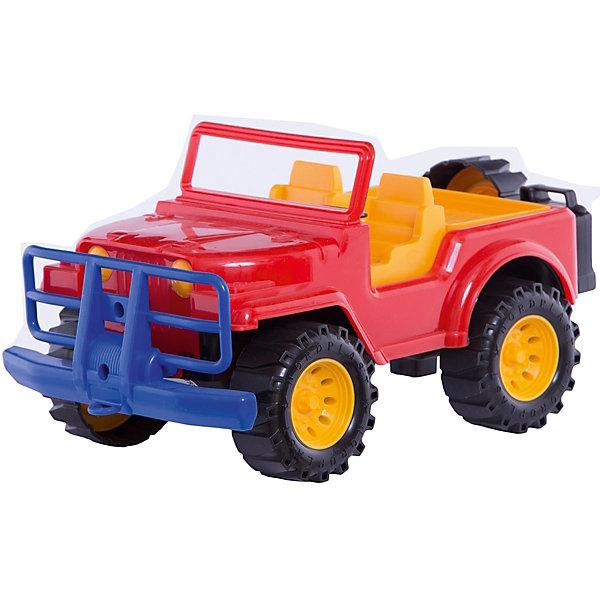 Джип, НордпластМашинки<br>Джип, Нордпласт – это яркая пластмассовая машина, которой интересно будет играть вашему мальчику.<br>Джип от компании Нордпласт прочный и очень надежный. У него открытая кабина и есть багажник. В кабине есть сиденья, в нее можно посадить маленькие фигурки водителя и пассажира. Малыш может играть с джипом, как дома, так и в песочнице, где можно устроить гоночный трек или барханы для ралли. Рельефные колеса преодолеют самые крутые спуски и подъемы. Игрушка изготовлена из высококачественной пищевой пластмассы, без трещин и заусениц, поэтому во время эксплуатации выдержит многие детские шалости. Она покрыта нетоксичной краской, не облупливающейся и не выгорающей на солнце. Товар соответствует требованиям стандарта для детских игрушек и имеет сертификат качества.<br><br>Дополнительная информация:<br><br>- Материал: высококачественная пластмасса<br>- Размер: 16,5х19х32,5 см.<br>- Вес: 590 гр.<br><br>Джип, Нордпласт можно купить в нашем интернет-магазине.<br>Ширина мм: 325; Глубина мм: 190; Высота мм: 165; Вес г: 590; Возраст от месяцев: 36; Возраст до месяцев: 72; Пол: Мужской; Возраст: Детский; SKU: 4112743;