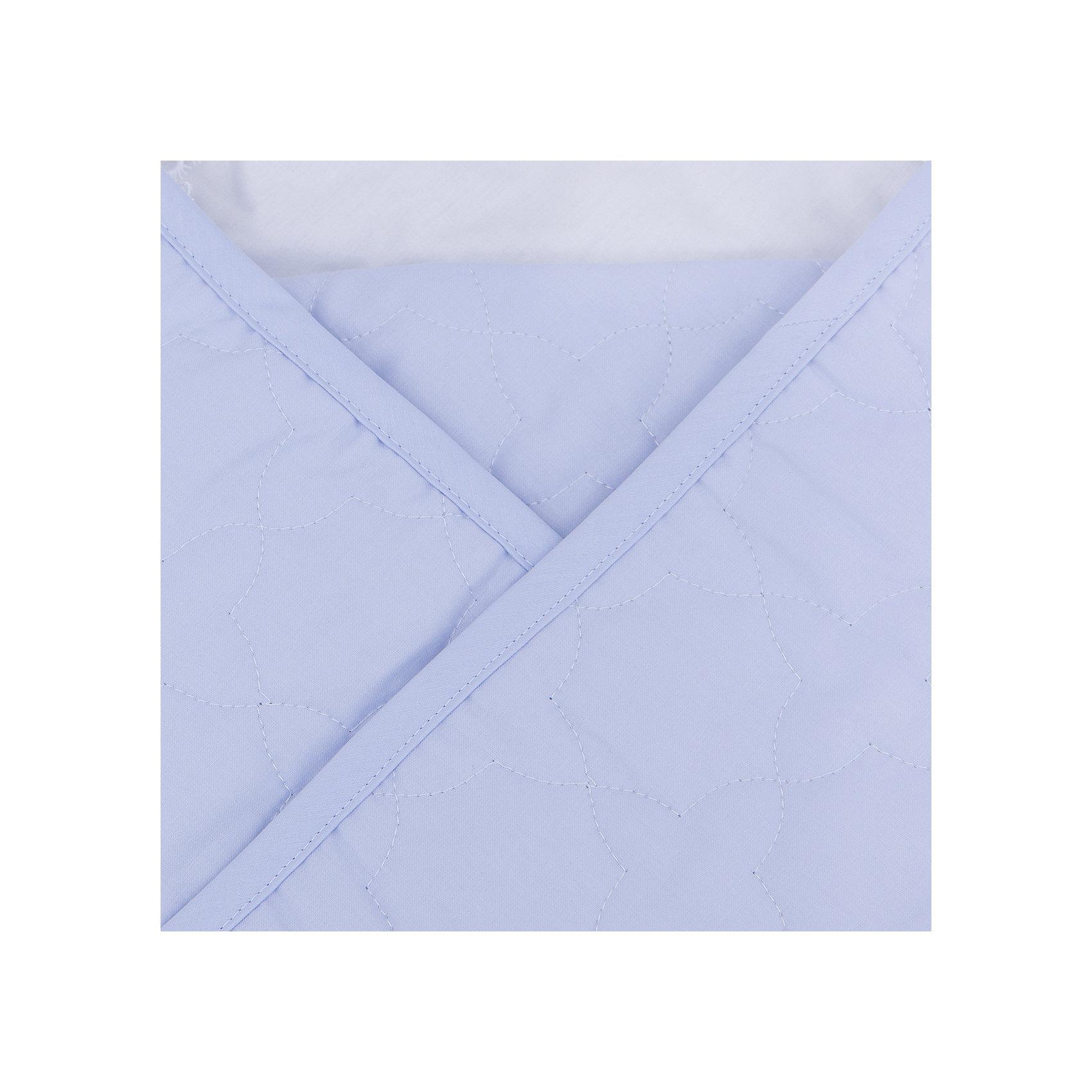 Конверт-одеяло на выписку Ласточка Сонный гномик, голубой