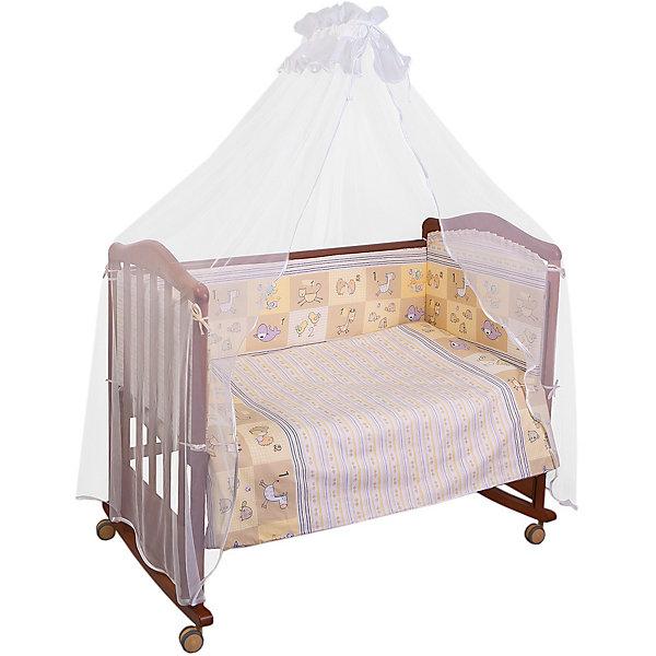 Сонный гномик Комплект в кроватку 7 предметов Сонный гномик, Считалочка, бежевый комплект в кроватку сонный гномик комплект в кроватку считалочка 3 предмета бежевый