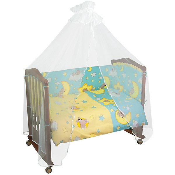Сонный гномик Комплект в кроватку 7 предметов Сонный гномик, Сыроежкины, голубой сонный гномик постельное белье считалочка 7 пред сонный гномик бежевый
