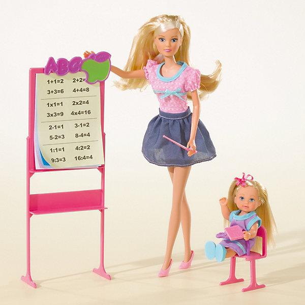 Simba Игровой набор с куклами Steffi Love Штеффи -учитель и Еви - ученица
