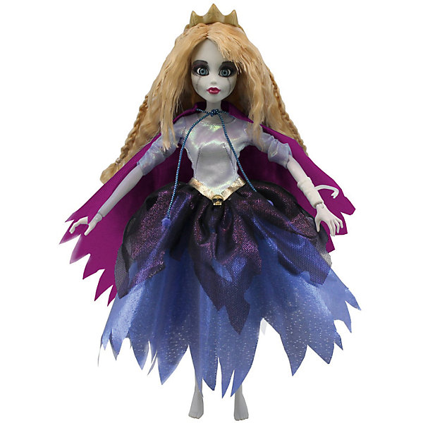 Кукла Зомби: Спящая красавица, WowWeeКуклы модели<br>Кукла «Спящая красавица» от WowWee - это сказочный персонаж , превращенный в загадочную и холодную принцессу-зомби. Несмотря на превращение, принцесса не утратила своей красоты, даже наоборот, приобрела определенный потусторонний шарм и очарование. Длинные белокурые волосы куклы очень приятны наощупь, из них получится много оригинальных причесок. Спящая красавица одета в невероятное платье с серебряным лифом и пышной темно-синей юбкой. На плечах у нее - фиолетовый плащ. Голову куклы венчает золотая диадема. Собери всю коллекцию принцесс-зомби и устрой незабываемый бал!<br><br>Дополнительная информация:<br><br>- Материал: пластик, текстиль.<br>- Высота куклы: 28 см.<br>- Комплектация: кукла, расческа, подставка.<br>- Руки, ноги, голова куклы подвижные.<br><br>Куклу Зомби: Спящую красавицу, WowWee, можно купить в нашем магазине.<br>Ширина мм: 150; Глубина мм: 70; Высота мм: 350; Вес г: 150; Возраст от месяцев: 72; Возраст до месяцев: 168; Пол: Женский; Возраст: Детский; SKU: 4134074;