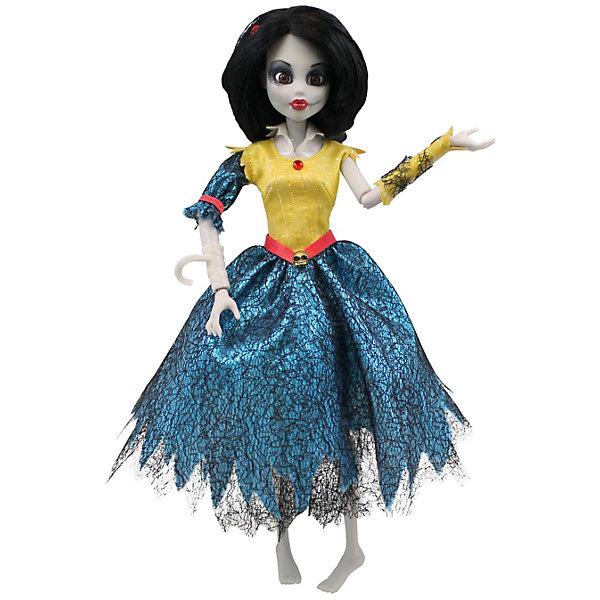 Кукла Зомби Белоснежка, WowWeeКуклы<br>Кукла Зомби: Белоснежка от WowWee - это сказочный персонаж , превращенный в загадочную и холодную принцессу-зомби. Несмотря на превращение, принцесса не утратила своей красоты, даже наоборот, приобрела определенный потусторонний шарм и очарование. Темные волосы куклы уложены в изысканную прическу. Белоснежка одета в прекрасное  платье с приталенным желтым лифом, пышной синей юбкой и подъюбником из сетки. Собери всю коллекцию принцесс-зомби и устрой незабываемый бал!<br><br>Дополнительная информация:<br><br>- Материал: пластик, текстиль.<br>- Высота куклы: 28 см.<br>- Комплектация: кукла, расческа, подставка.<br>- Руки, ноги, голова куклы подвижные.<br><br>Куклу Зомби: Белоснежку, WowWee, можно купить в нашем магазине.<br>Ширина мм: 150; Глубина мм: 70; Высота мм: 350; Вес г: 150; Возраст от месяцев: 72; Возраст до месяцев: 168; Пол: Женский; Возраст: Детский; SKU: 4134077;