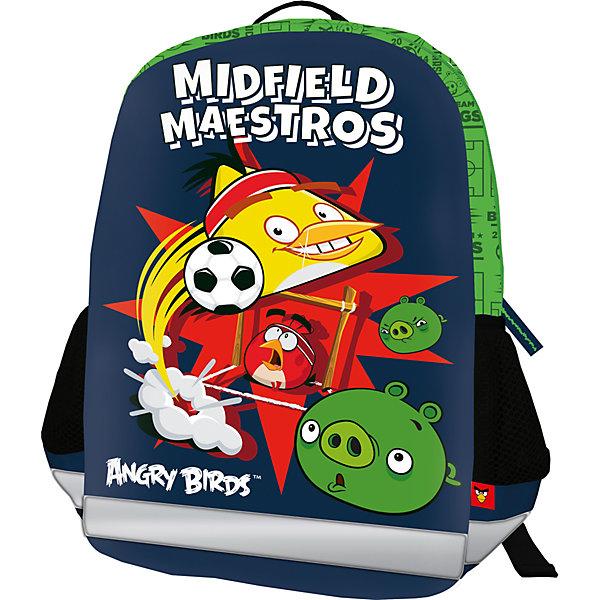 Школьный рюкзак Angry BirdsРюкзаки<br>Рюкзак, спинка мягкая, уплотненная поролоном, EVA фронтальная панель. Одно вместительное отделение с двумя карманами с утягивающей резинкой. По бокам расположены карманы из воздухообменного материала. Дно рюкзака мягкое, лямки S-образной формы с поролоном и воздухообменным сетчатым материалом, регулируются по длине. Рюкзак оснащен текстильной ручкой.<br><br>Дополнительная информация:<br><br>Размер: 36 х 28 х 12 см. Рюкзак каркасный, фронтальная панель из EVA. Одно вместительное отделение с двумя карманами с утягивающей резинкой. Два боковых кармана.<br><br>Каркасный рюкзак Angry Birds (Энгри Бердс) можно купить в нашем магазине.<br>Ширина мм: 360; Глубина мм: 280; Высота мм: 120; Вес г: 361; Возраст от месяцев: 72; Возраст до месяцев: 144; Пол: Мужской; Возраст: Детский; SKU: 4140979;